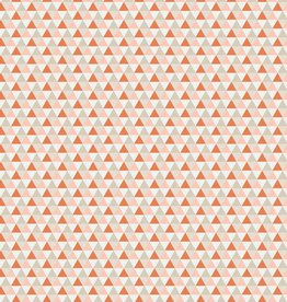 Toff Designs Katoen Poplin Triangles Orange