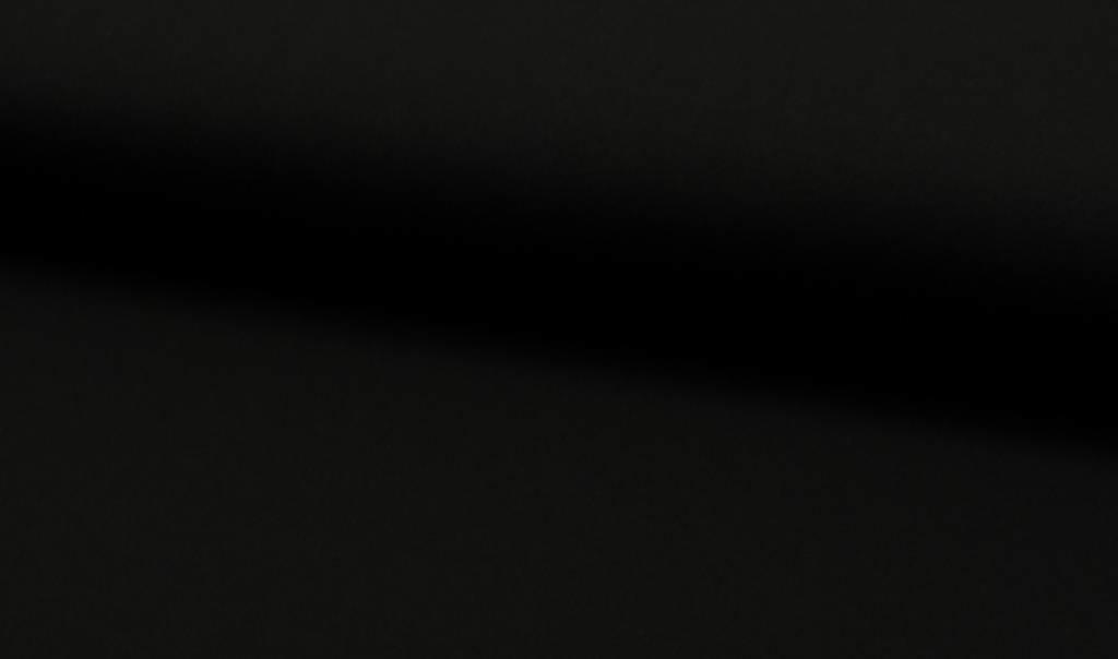 Uni tricot viscose, zwart