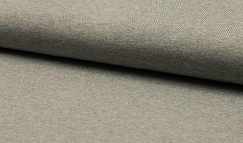 Uni tricot viscose, grijs melange