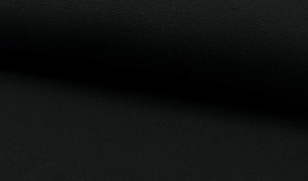 Boordstof fijn, zwart