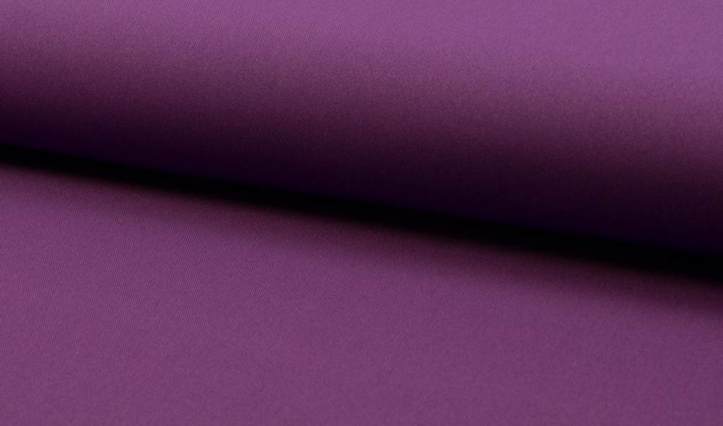 Bi-stretch / Texture / Burlington Paars, Per Rol 25 meter- 280 cm Breed