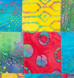 Katoen stof, Batik Embroidery Patchwork 02