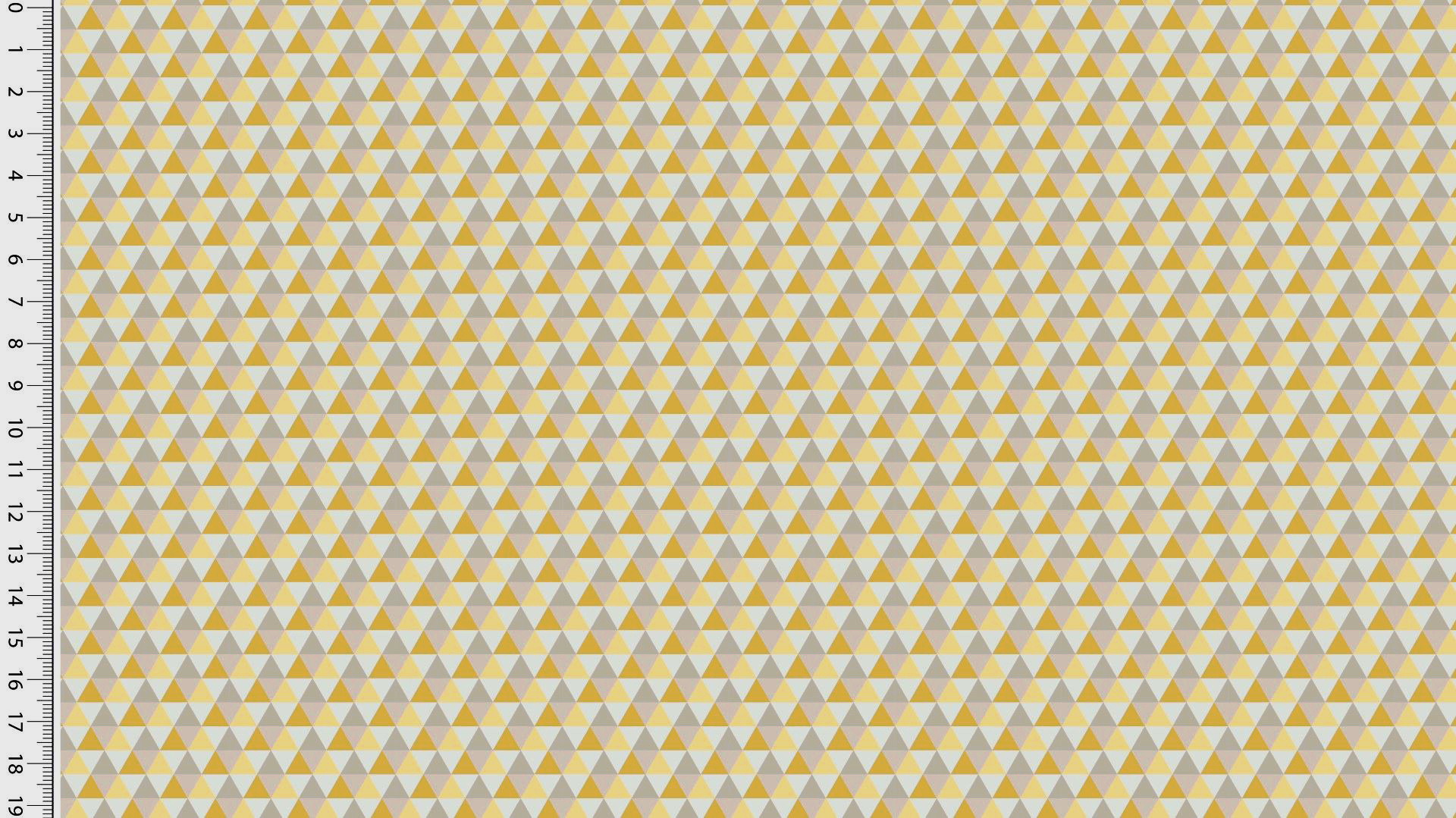 Toff Designs Katoen Poplin Triangles Misted Yellow