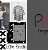 by Poppy designed for you Katoen Poplin, Triangle White/Black