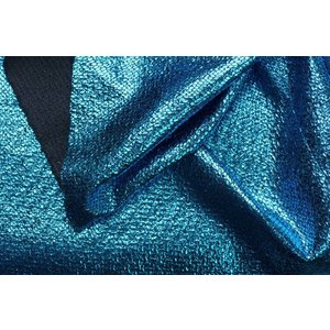 Lurex  Ruit Turquoise / Zwart