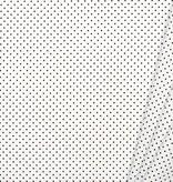 by Poppy designed for you Katoen Poplin, Petit Dots White/Black