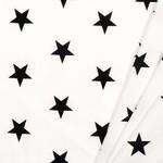by Poppy designed for you Katoen Poplin, Stars White/Black