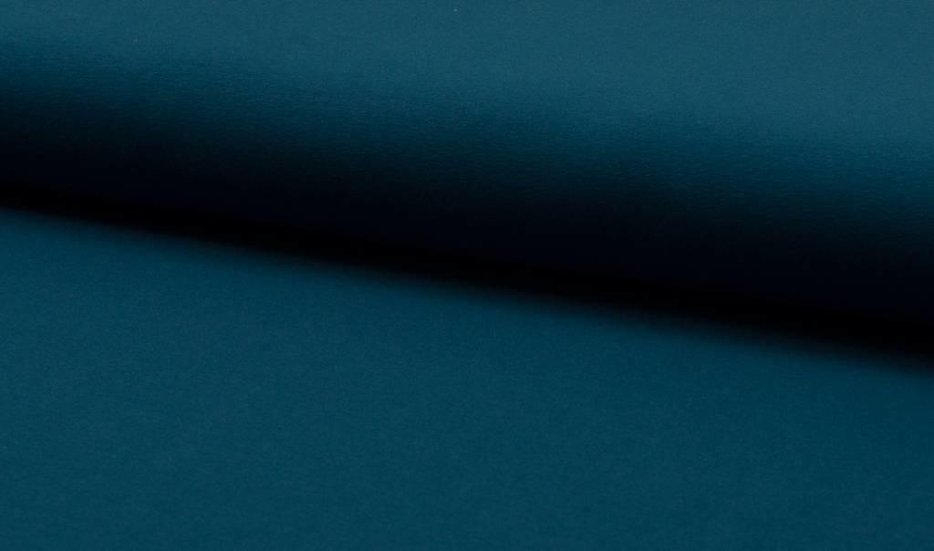 Katoen tricot- donker petrol