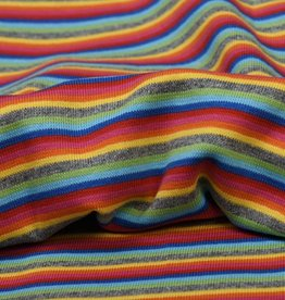 Boordstof stripes multicolor