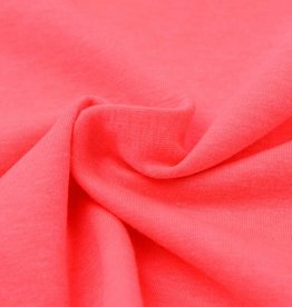 Katoen tricot- fluorescerend roze