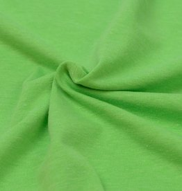 Katoen tricot- fluorescerend groen