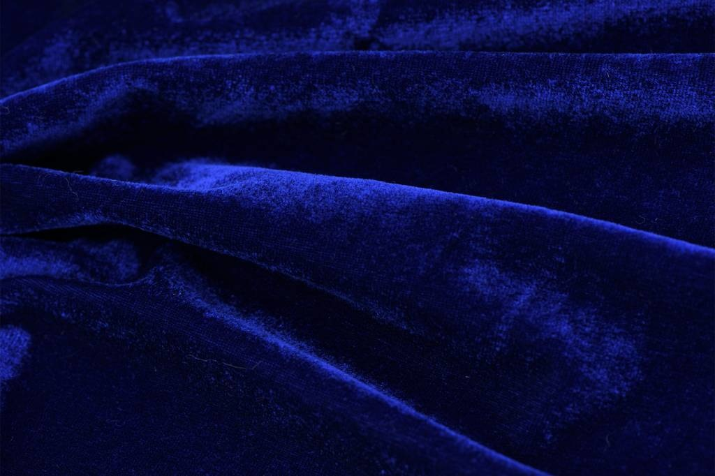 Stretch Fluweel Blauw