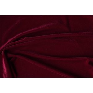 Stretch Fluweel Rood