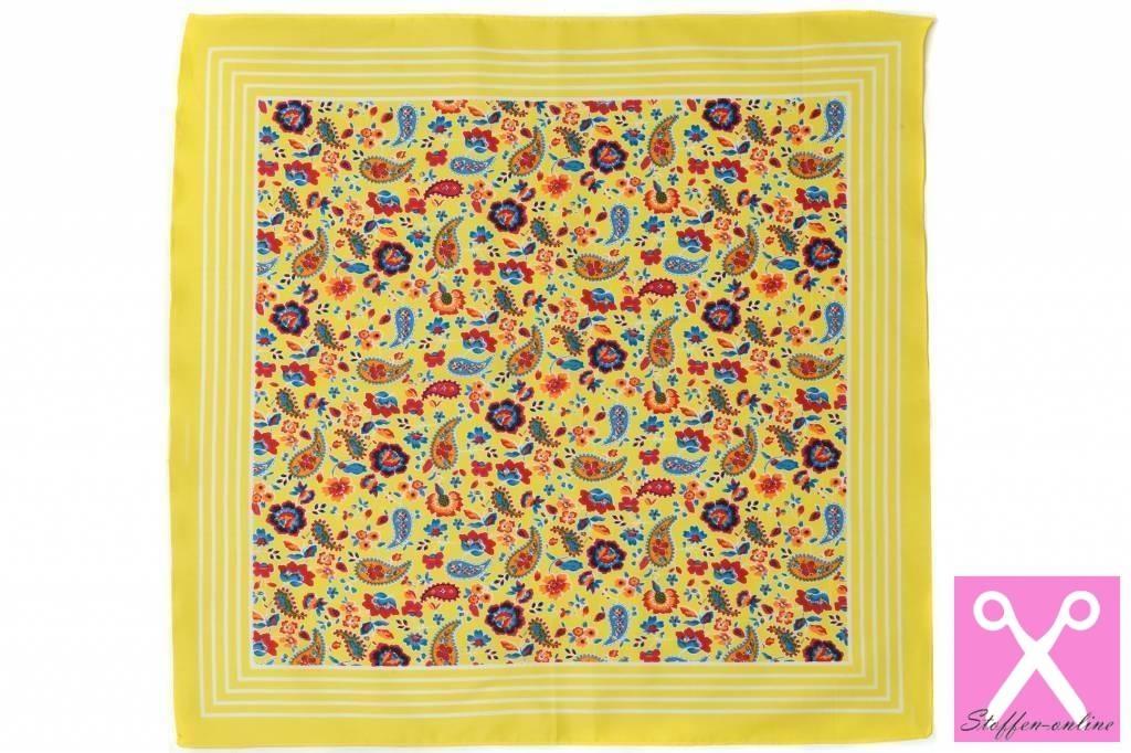 Zakdoeken Paisley Print Lichtblauw