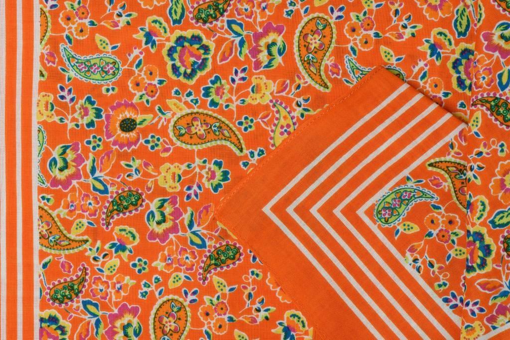 Zakdoeken Paisley Print Oranje