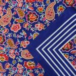 Zakdoeken Paisley Print Kobaltblauw