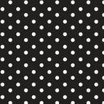 by Poppy designed for you Katoen Poplin, Dots Black/White