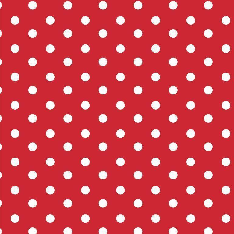 by Poppy designed for you Katoen Poplin, Dots Red/White