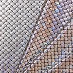 Lycra Bedrukt Met Kleine Schubben Zilver