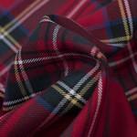 Schotse ruit met stretch rood