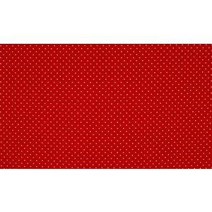 by Poppy designed for you Katoen Poplin, Petit Dots Rood