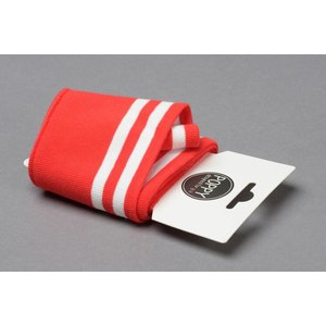 by Poppy designed for you Boordstof / Cuffs Strepen Rood