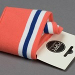 by Poppy designed for you Boordstof / Cuffs Strepen Coral / Blue