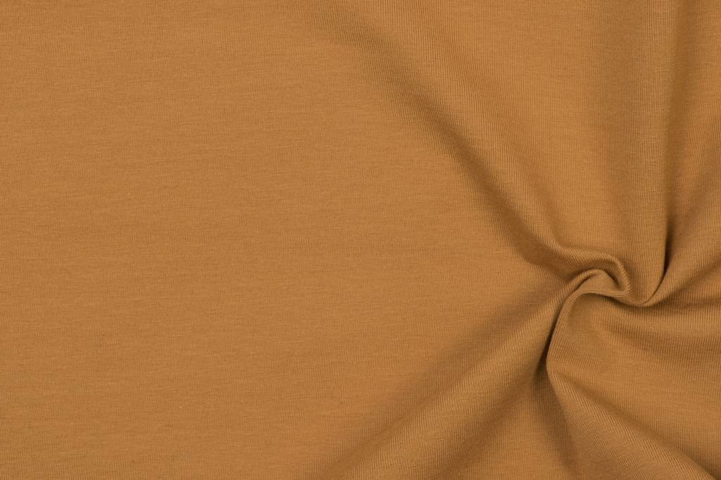 Katoen tricot- dark ochre