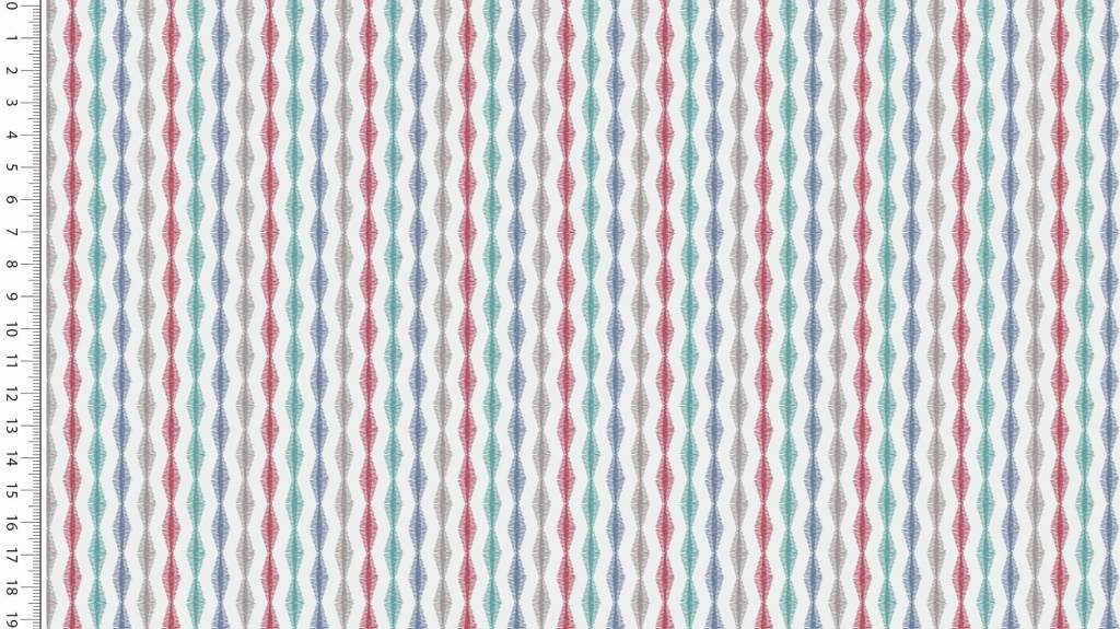 Toff Designs French Terry Boho Tribal Stripes Off-White