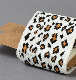 Boord Cuffs Jacquard Leopard Off-White