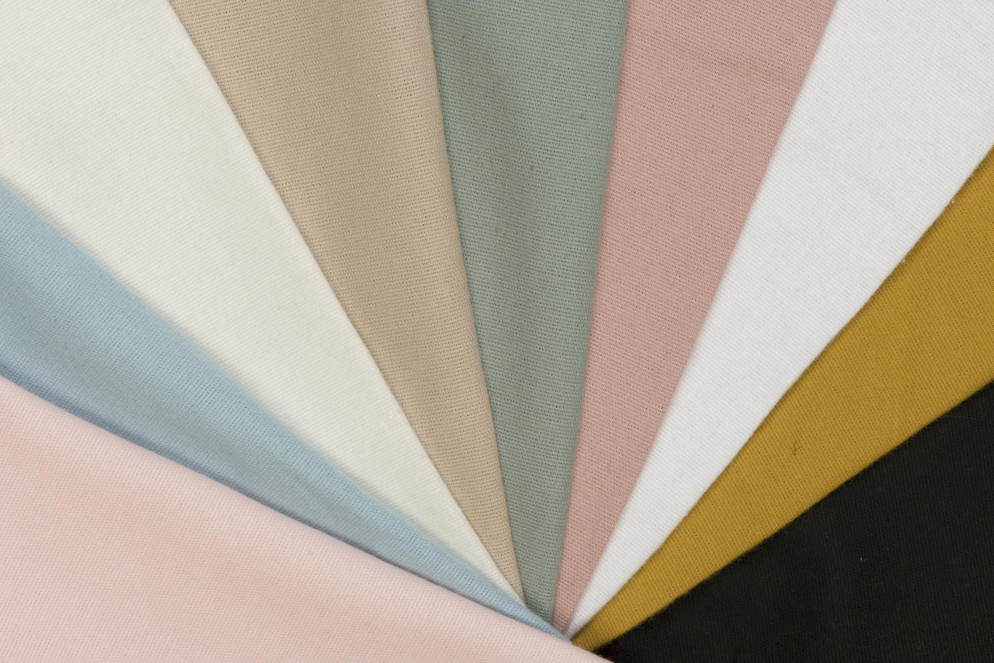 by Poppy designed for you Cotton Flanel Uni / Effen Zwart