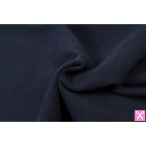 by Poppy designed for you GOTS French Terry Brushed Uni / Effen Navy