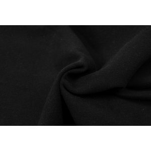 by Poppy designed for you GOTS French Terry Brushed Uni / Effen Deep Black