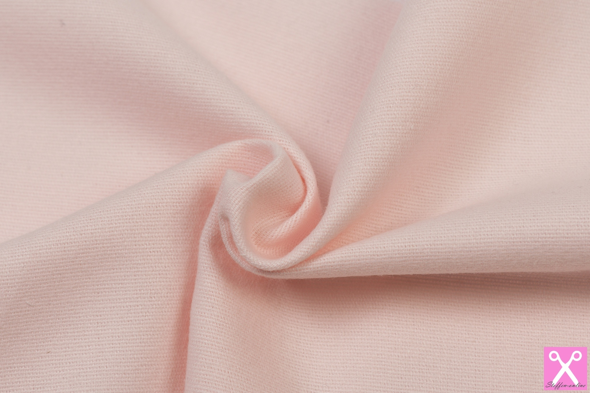 by Poppy designed for you Cotton Flanel Uni / Effen Light Rose