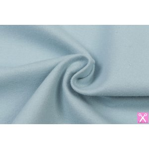by Poppy designed for you Cotton Flanel Uni / Effen Soft Blue