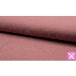 Qjutie Kids Baby Cotton / Mousseline Uni / Effen Old Rose