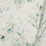 Poplin Katoen Digitale Print - Eucalyptus Boeket