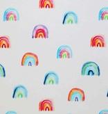Jersey Katoen Digitale Print - Regenboog