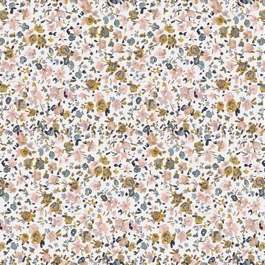 by Poppy designed for you Katoen Poplin Flowers Off White