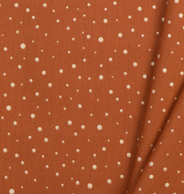 by Poppy designed for you Katoen Poplin Glitter Dots Rust