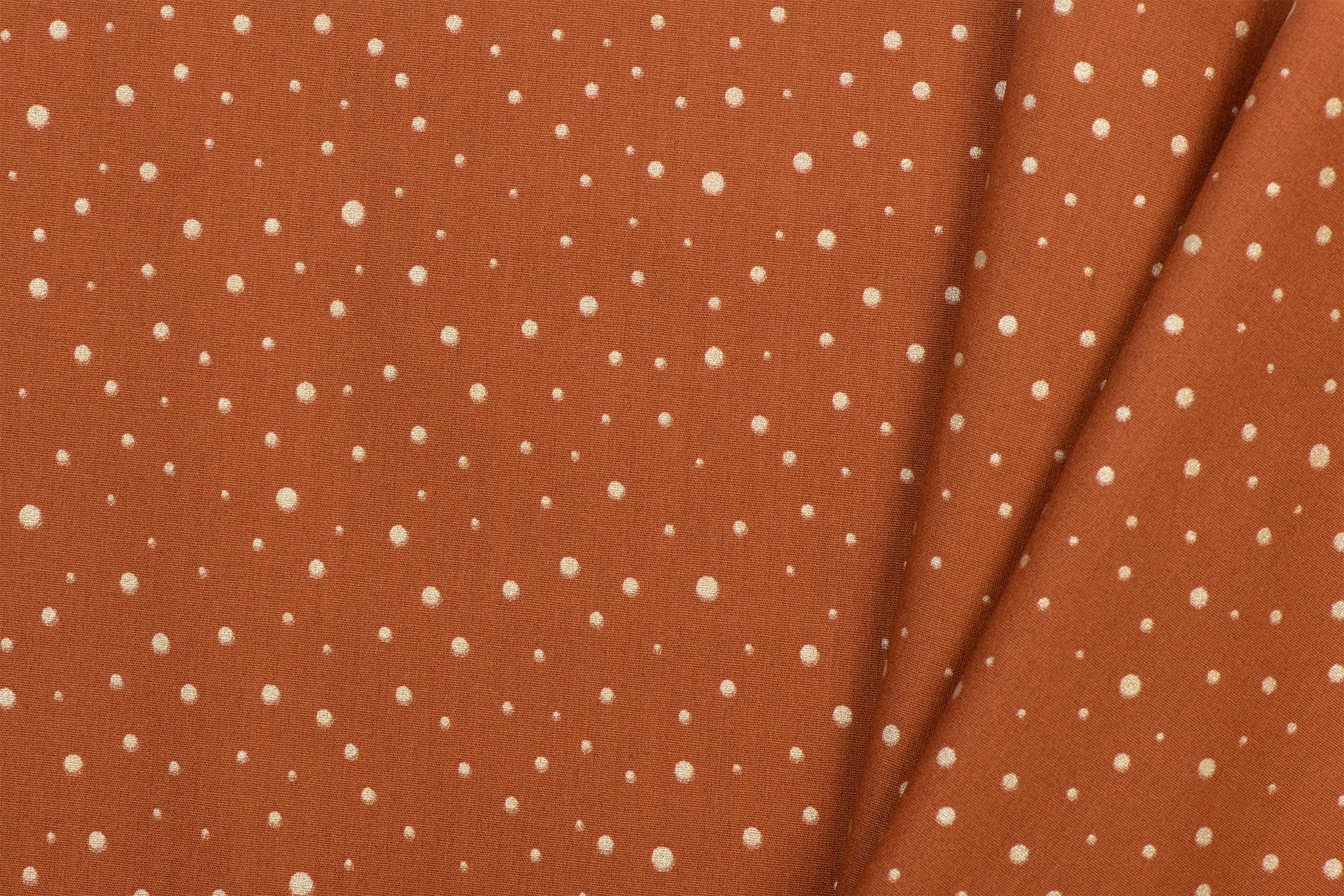 by Poppy designed for you Katoen Poplin Glitter Dots Rust
