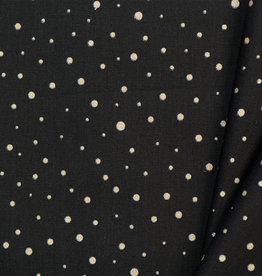 by Poppy designed for you Katoen Poplin Glitter Dots Black