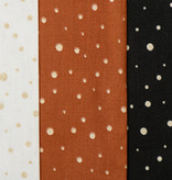 by Poppy designed for you Katoen Poplin Glitter Dots Black