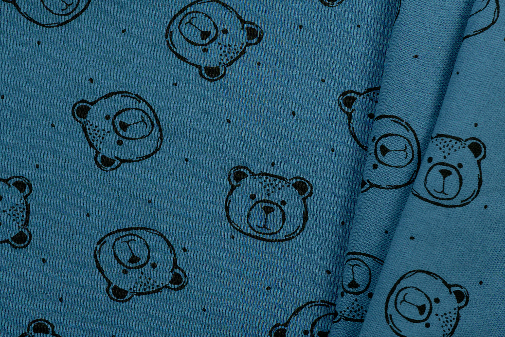 by Poppy designed for you GOTS French Terry Brushed Bears Jeans