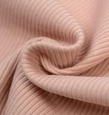 Rib Jersey Stof Nude Roze