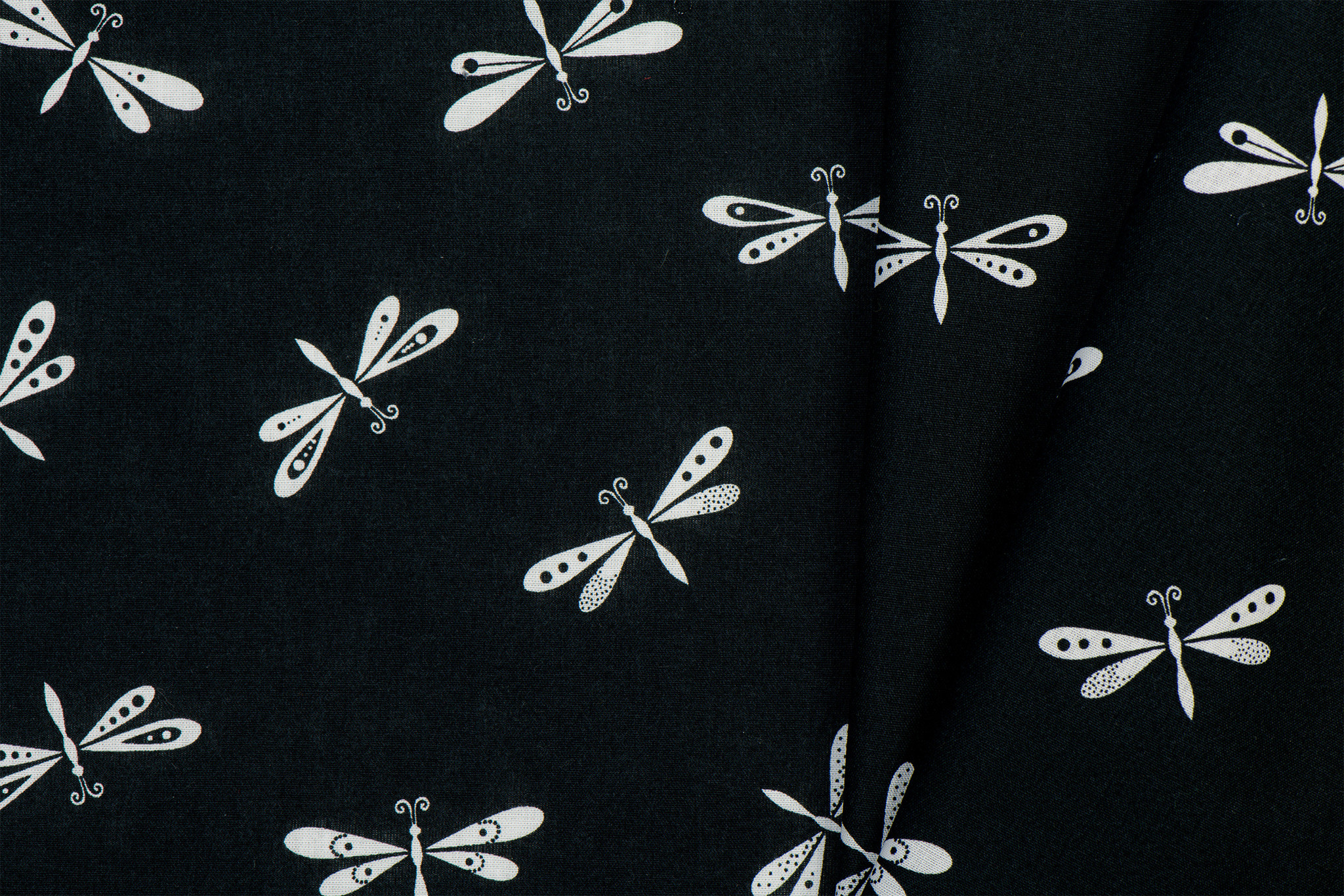 Katoen Libellen Black & White