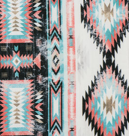 Outdoor Stof Ikat Coral