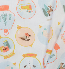 by Poppy designed for you Katoen Poplin Christmas White
