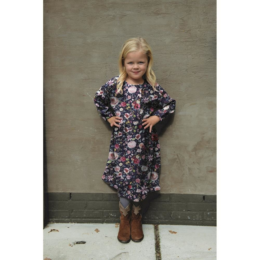 by Poppy designed for you GOTS Double Gauze / Mousseline Digital Flowers Navy