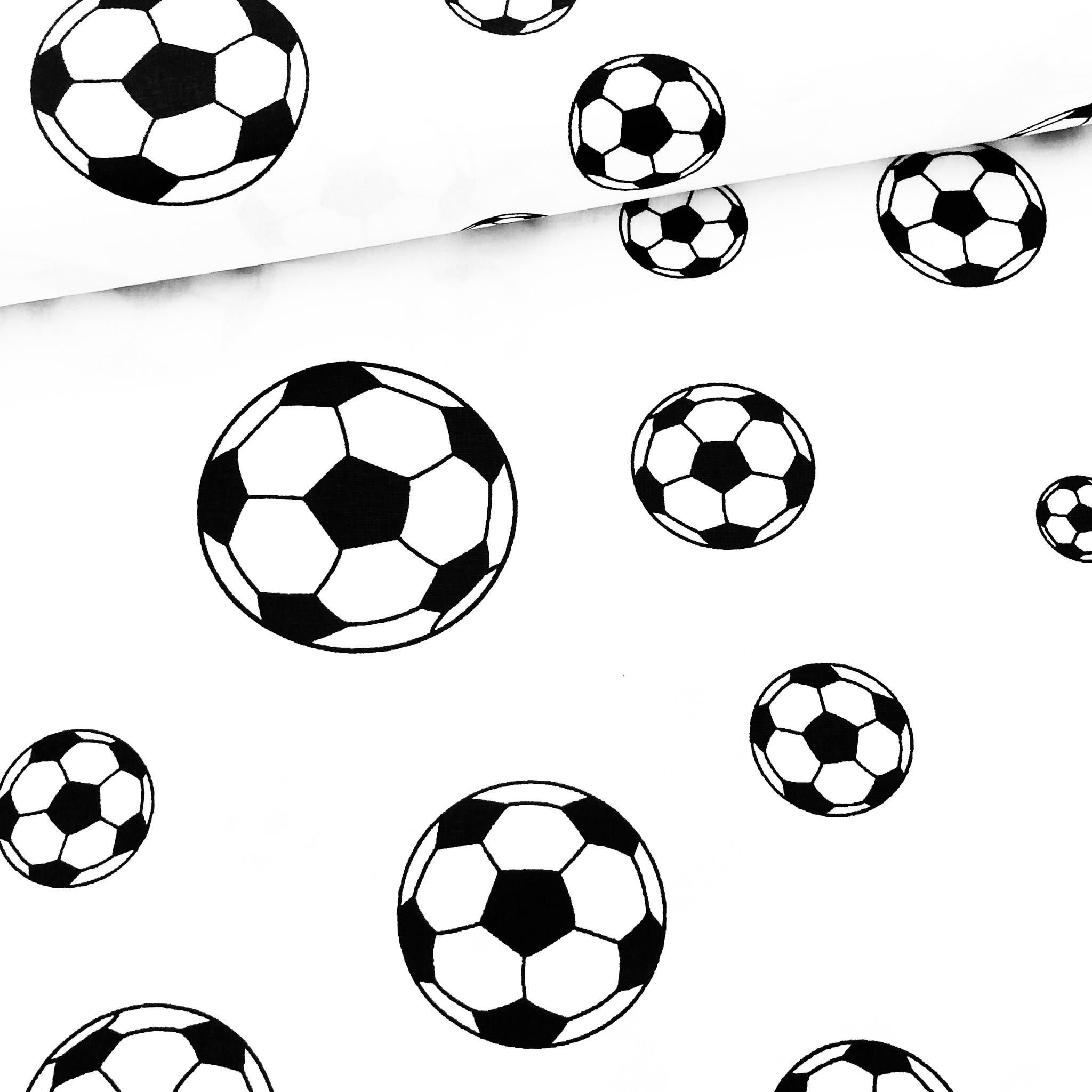 Voetbalstoffen Zwart / Wit Voetbal